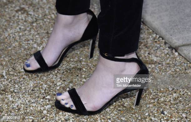 Odeya Rush shoe detail attends the Rising Star Showcase at Materra | Cunat Family Vineyards during ithe 7th Annual Napa Valley Film Festival on...