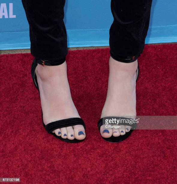 Odeya Rush shoe detail attends the 'Rising Star Showcase' during the 7th Annual Napa Valley Film Festival on November 11 2017 in Napa California