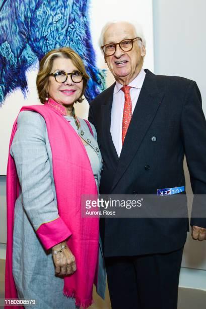 Odile de SchietereLongchampt and Michel Longchampt attend as Jean Shafiroff hosts a party for Helmut Koller to benefit Global Strays at Laverdin...