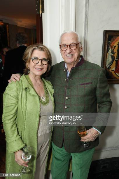 Odile de SchietereLongchampt and Michel Longchampt attend Martin and Jean Shafiroff Host St Patrick's Day Cocktails Party in Honor of Stony Brook...
