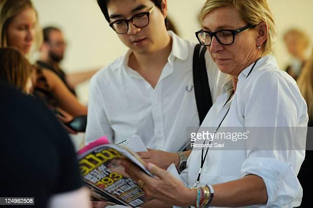 Odile Gilbert at 31 Phillip Lim Spring 2012 on September 14 2011 in New York City