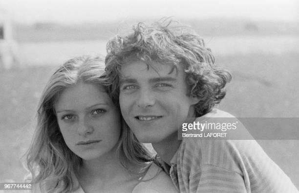 Odile Michel et Philippe Ruggieri lors du tournage du film 'Le Gagnant' à Paris le 31 aout 1979 France