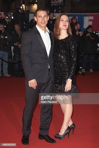 Odile Vuillemin and a guest attend the 15th NRJ Music Awards at Palais des Festivals on December 14 2013 in Cannes France
