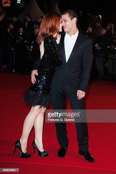 Odile Vuillemin and a guest attend the 15th NRJ Music Awards at Palais des Festivals on December 14, 2013 in Cannes, France.