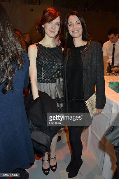 Odile Vuillemin and Laetitia Fourcade attend 'Les Lumieres 2013' Cinema Awards 18th Ceremony at La Gaite Lyrique on January 18, 2013 in Paris, France.