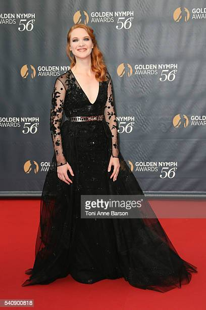 Odile Vuillemin arrives at the 56th Monte Carlo TV Festival Closing Ceremony and Golden Nymph Awards at The Grimaldi Forum on June 16 2016 in...
