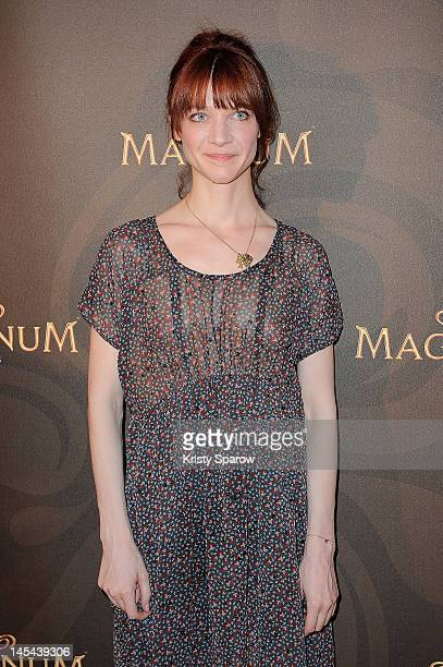 Odile Vuillemin attends the Magnum Cafe opening on May 29, 2012 in Paris, France.