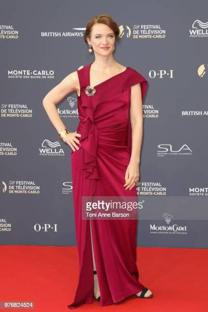 Odile Vuillemin attends the opening ceremony of the 58th Monte Carlo TV Festival on June 15 2018 in MonteCarlo Monaco