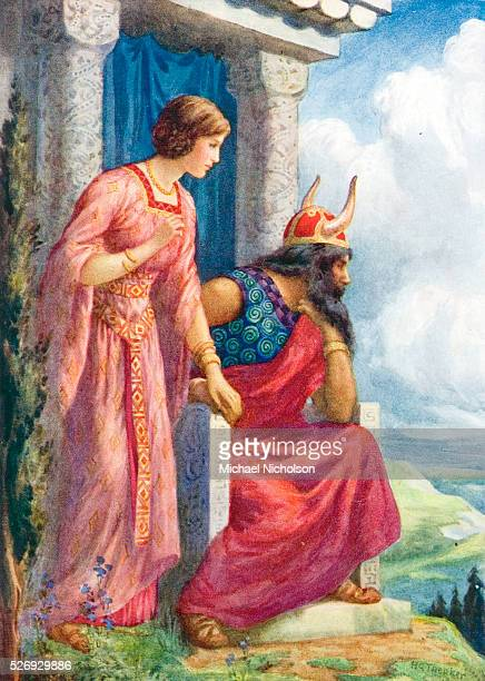 Odin and Frigga from 'Asgard and Its King' Asgard is the capital city of the Norse Gods Valhalla is located within Asgard Odin and his wife Frigg are...