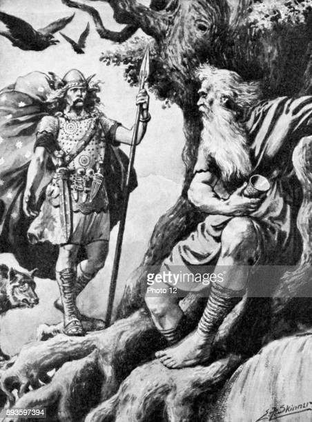Odin or Wotan One of principal gods of Norse mythology God of War Here he seeks wisdom to make him allpowerful For this he sacrifices one eye With...