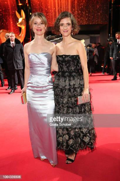 Odine Johne and Liv Lisa Fries during the Bambi Awards 2018 Arrivals at Stage Theater on November 16 2018 in Berlin Germany