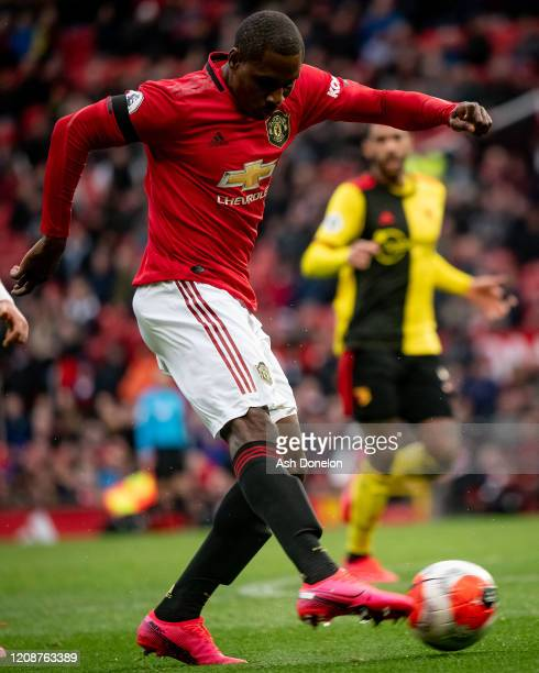 Odion Ighalo of Manchester United in action during the Premier League match between Manchester United and Watford FC at Old Trafford on February 23...