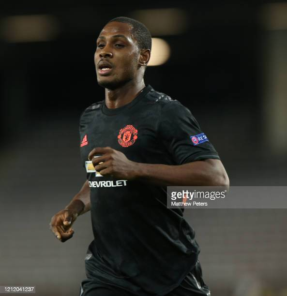 Odion Ighalo of Manchester United in action during the UEFA Europa League round of 16 first leg match between LASK and Manchester United at Linzer...
