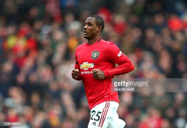 Odion Ighalo of Manchester United looks on during the Premier League match between Manchester United and Watford FC at Old Trafford on February 23,...
