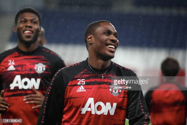 Odion Ighalo of Manchester United reacts during the UEFA Champions League Group H stage match between Paris SaintGermain and Manchester United at...