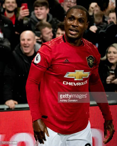 Odion Ighalo of Manchester United walks off after the Premier League match between Manchester United and Manchester City at Old Trafford on March 08...