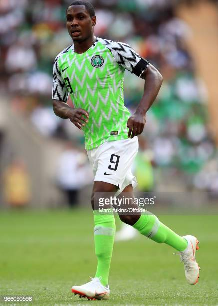 Odion Ighalo of Nigeria during an International Friendly between England and Nigeria at Wembley Stadium on June 2 2018 in London England