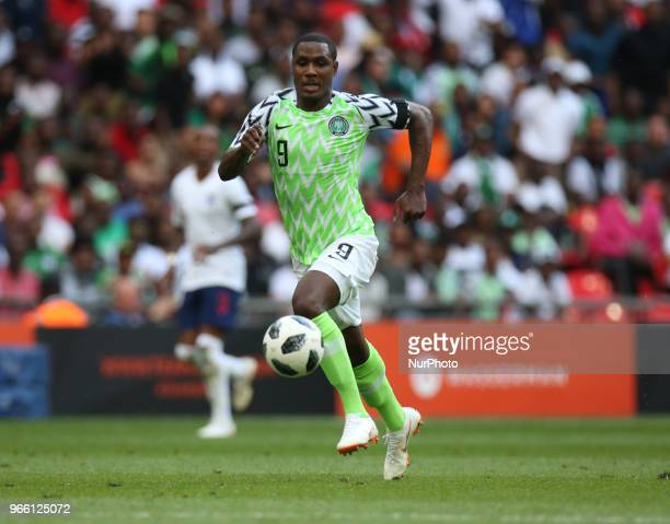 Odion Ighalo of Nigeria during International match between England against Nigeria at Wembley stadium London on 02 June 2018