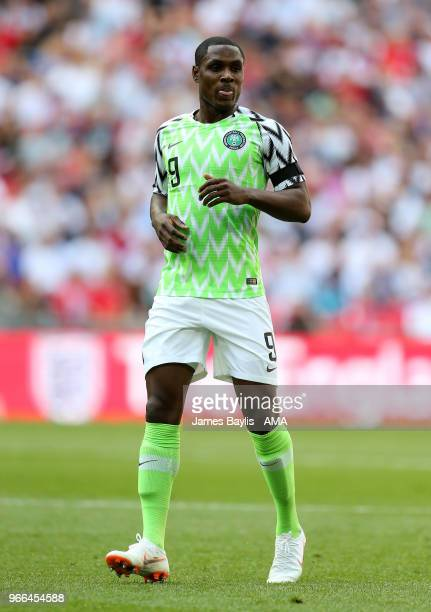 Odion Ighalo of Nigeria during the International Friendly between England and Nigeria at Wembley Stadium on June 2 2018 in London England