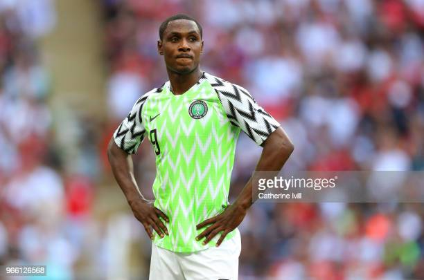 Odion Ighalo of Nigeria during the International Friendly match between England and Nigeria at Wembley Stadium on June 2 2018 in London England