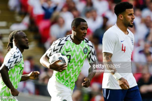 Odion Ighalo of Nigeria during the International Friendly match between England v Nigeria at the Wembley Stadium on June 2 2018 in London United...