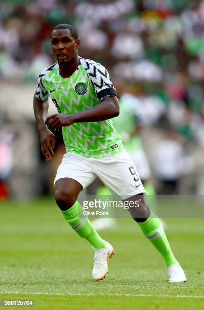 Odion Ighalo of Nigeria the International Friendly between England and Nigeria at Wembley Stadium on June 2, 2018 in London, England.