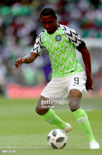 Odion Ighalo of Nigeria the International Friendly between England and Nigeria at Wembley Stadium on June 2 2018 in London England