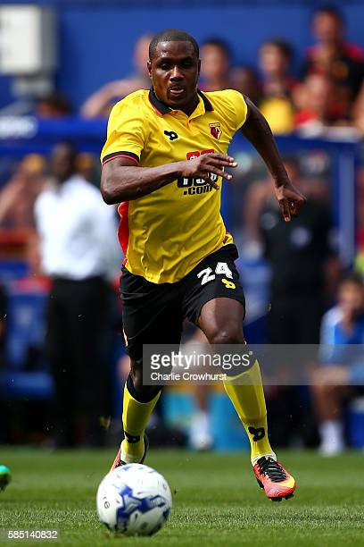 Odion Ighalo of Watford during the pre season friendly match between Queens Park Rangers and Watford at Loftus Road on July 30 2016 in London England