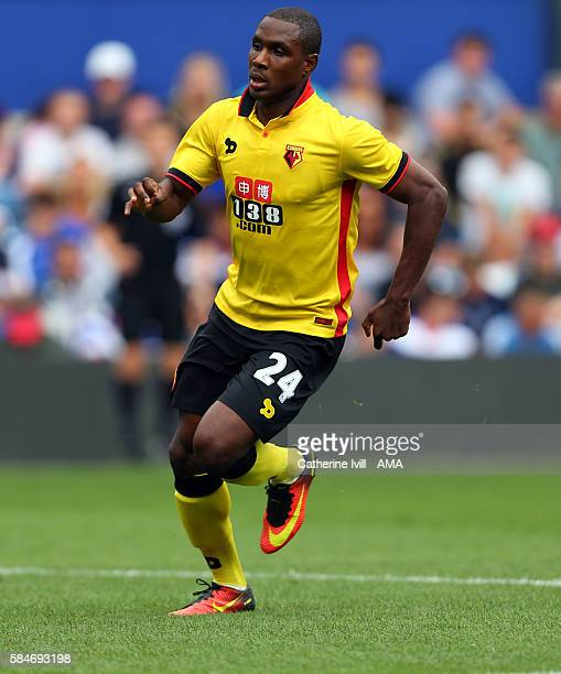 Odion Ighalo of Watford during the PreSeason Friendly match between Queens Park Rangers and Watford at Loftus Road on July 30 2016 in London England