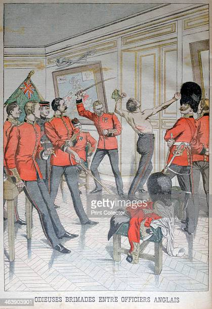 Odious behaviour between English officers 1903 An illustration from Le Petit Journal 14th March 1903