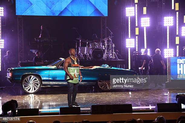 Odis Flores performs during the 2015 BET Hip Hop Awards at Boisfeuillet Jones Atlanta Civic Center on October 9 in Atlanta Georgia