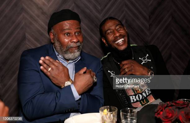 Odis Shumpert and Iman Shumpert attends The Compound and Luxury Watchmaker Roger Dubuis Hosts NBA AllStar Dinner Iman Shumpert is wearing Excalibur...