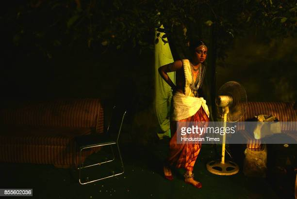 Odisha dance form performance during the fiveday Purana Qila Dance Festival on September 28 2017 in New Delhi India