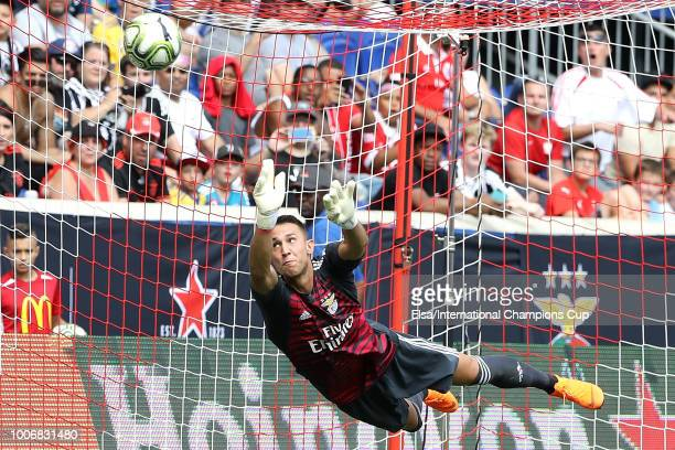 Odisseas Vlachodimos of Benfica makes a save in the second half during the International Champions Cup at Red Bull Arena on July 28 2018 in Harrison...