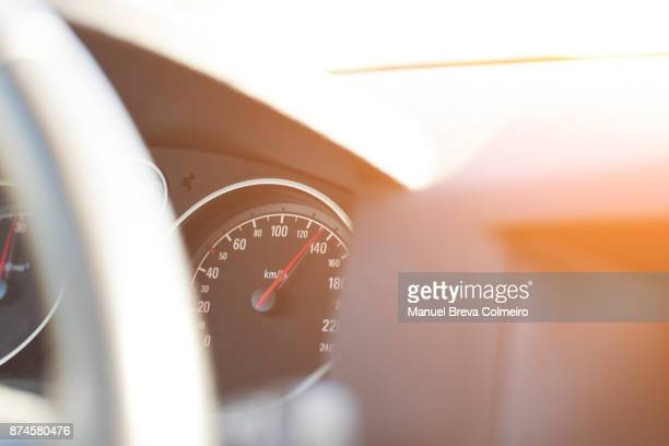 odometer - green car crash stock photos and pictures