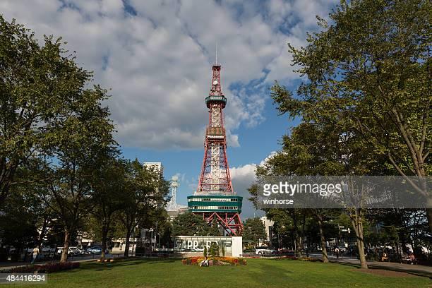 大通公園やサッポロテレビで北海道、日本タワー - 通信塔 ストックフォトと画像