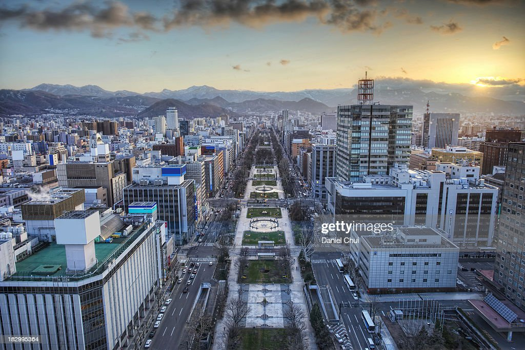 Odori Park Sunset : Stock Photo