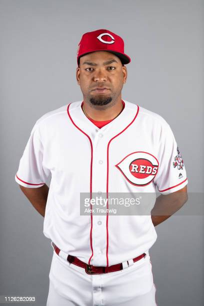 Odrisamer Despaigne of the Cincinnati Reds poses during Photo Day on Tuesday February 19 2019 at Goodyear Ballpark in Goodyear Arizona