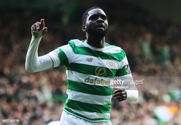 Odsonne Edouard of Celtic celebrates after he scores his team's second goal during the Scottish Premier League match between Celtic and Rangers at...