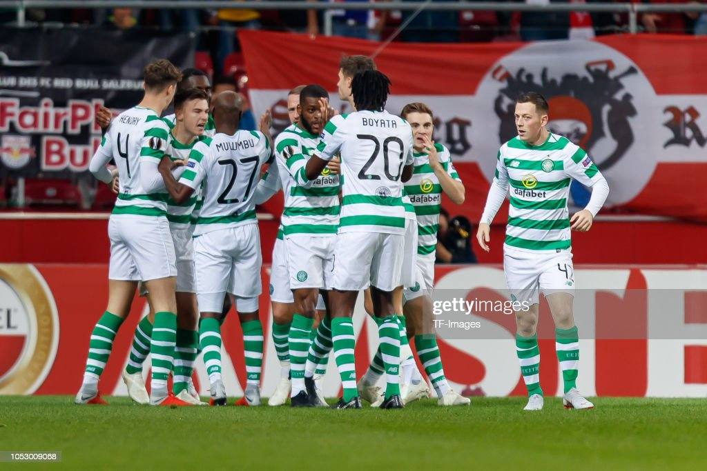 Odsonne Edouard of Celtic celebrates after scoring his ...