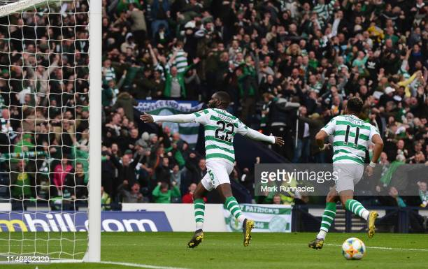 Odsonne Edouard of Celtic celebrates Scoring his second goal of the game during the Scottish Cup Final between Heart of Midlothian FC and Celtic FC...