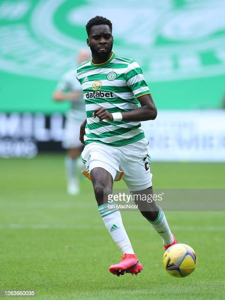 Odsonne Edouard of Celtic controls the ball during the Ladbrokes Premiership match between Celtic and Hamilton Academical at Celtic Park Stadium on...