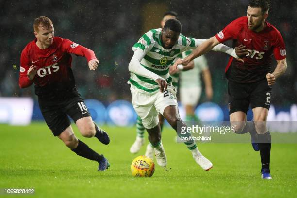Odsonne Edouard of Celtic controls the ball during the Scottish Ladbrokes Premiership match between Celtic and Kilmarnock at Celtic Park Stadium on...