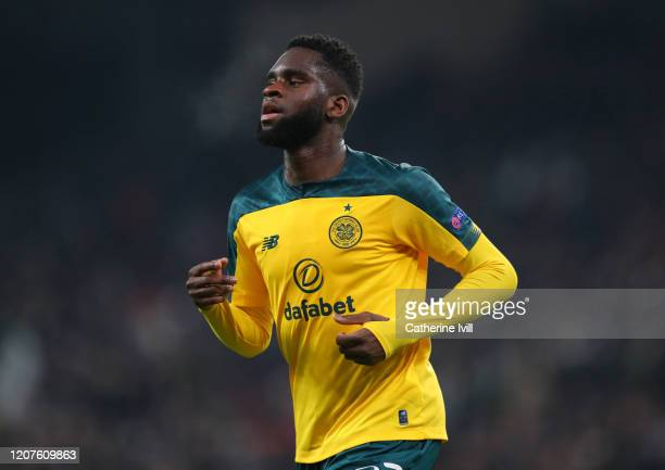 Odsonne Edouard of Celtic during the UEFA Europa League Round of 32 first leg match between FC Kobenhavn and Celtic FC at Telia Parken on February...
