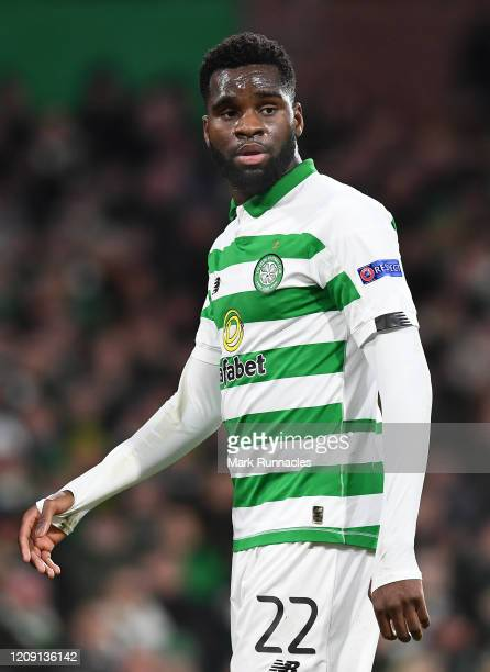 Odsonne Edouard of Celtic FC in action during the UEFA Europa League round of 32 second leg match between Celtic FC and FC Kobenhavn at Celtic Park...