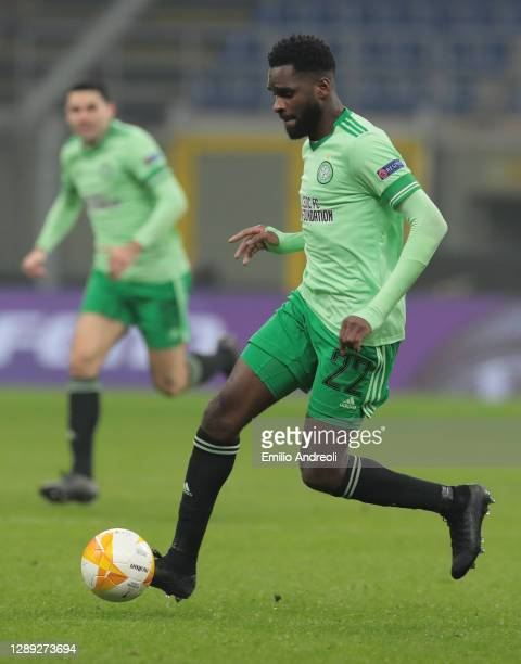 Odsonne Edouard of Celtic FC in action during the UEFA Europa League Group H stage match between AC Milan and Celtic at San Siro Stadium on December...