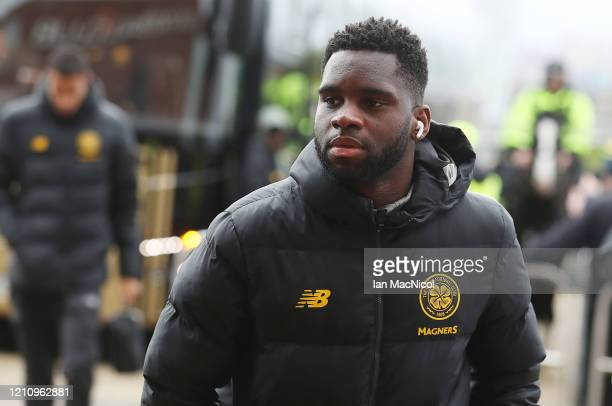 Odsonne Edouard of Celtic is seen prior to the Ladbrokes Premiership match between Celtic and St. Mirren at Celtic Park on March 07, 2020 in Glasgow,...