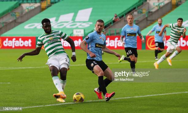 Odsonne Edouard of Celtic scores his team's second goal during the UEFA Champions League: First Qualifying Round match between Celtic and KR...