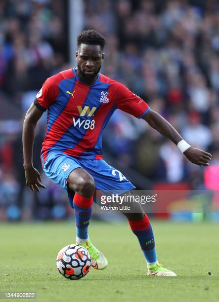 Odsonne Edouard of Crystal Palace controls the ball during the Premier League match between Crystal Palace and Leicester City at Selhurst Park on...