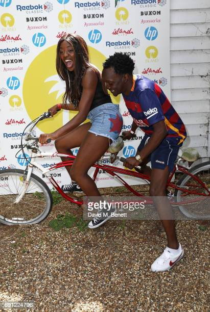 Odudu and Arnold Oceng attend Island Records' 'Island Life' on Osea Island on June 1 2017 in London England